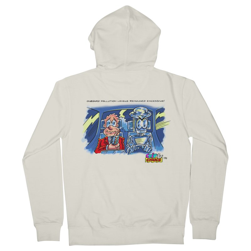 Chip & Chuck pollute Men's Zip-Up Hoody by thethinkforward's Artist Shop
