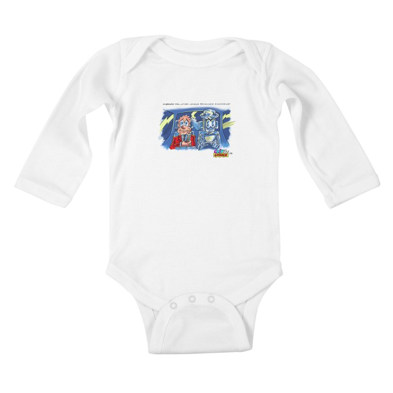 Chip & Chuck pollute Kids Baby Longsleeve Bodysuit by thethinkforward's Artist Shop