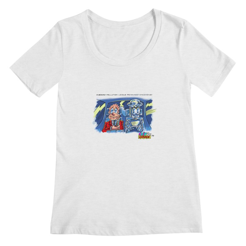 Chip & Chuck pollute Women's Scoopneck by thethinkforward's Artist Shop