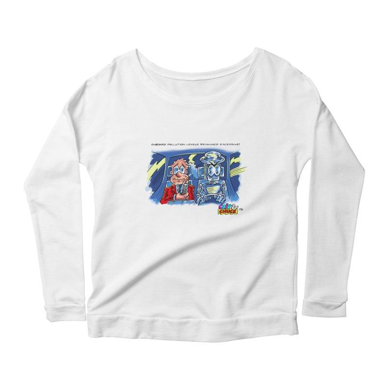 Chip & Chuck pollute Women's Scoop Neck Longsleeve T-Shirt by thethinkforward's Artist Shop