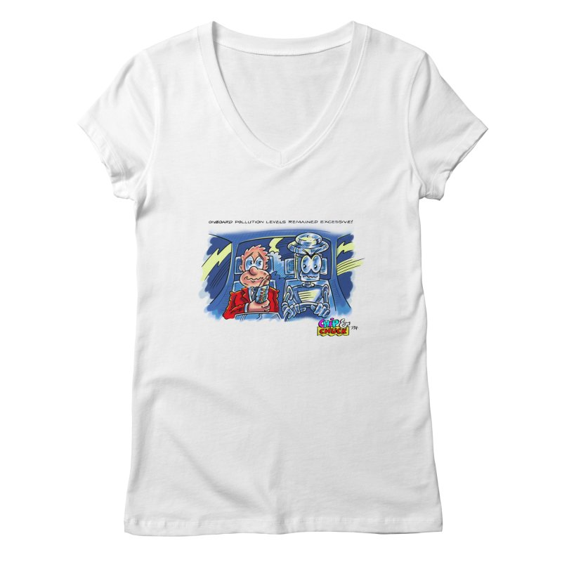 Chip & Chuck pollute Women's V-Neck by thethinkforward's Artist Shop