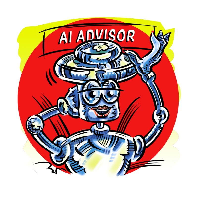 AI Advisor Accessories Sticker by thethinkforward's Artist Shop