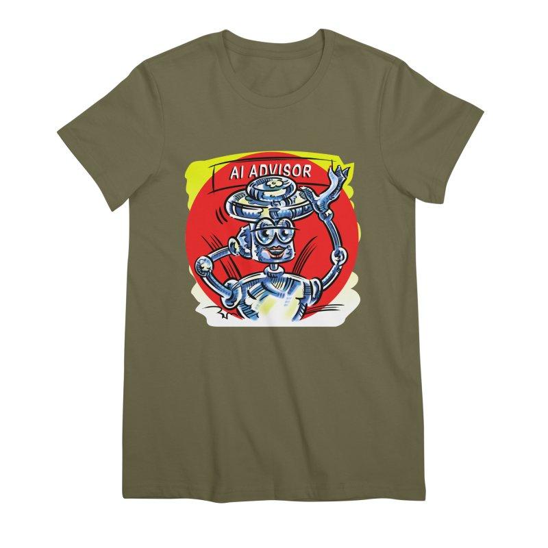 AI Advisor Women's Premium T-Shirt by thethinkforward's Artist Shop