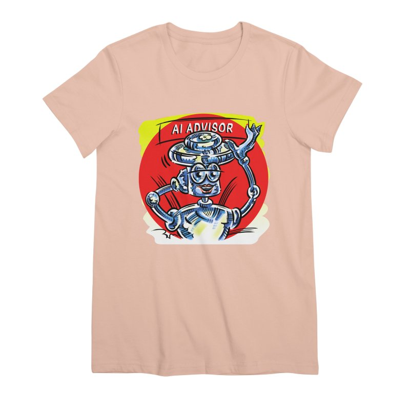 AI Advisor Women's Premium T-Shirt by thethinkforward's Artist Shop