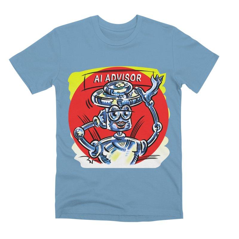 AI Advisor Men's Premium T-Shirt by thethinkforward's Artist Shop
