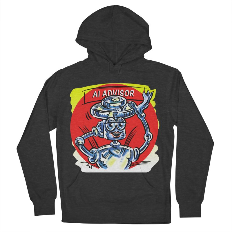 AI Advisor Men's French Terry Pullover Hoody by thethinkforward's Artist Shop