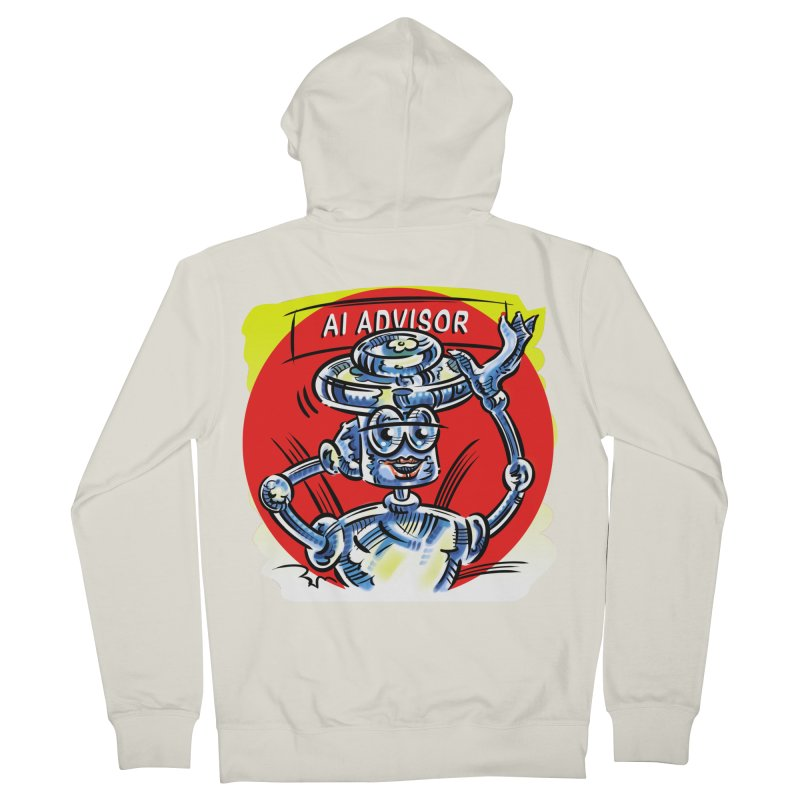 AI Advisor Women's French Terry Zip-Up Hoody by thethinkforward's Artist Shop