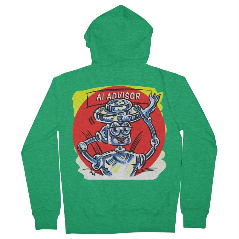 AI Advisor Men's French Terry Zip-Up Hoody by thethinkforward's Artist Shop