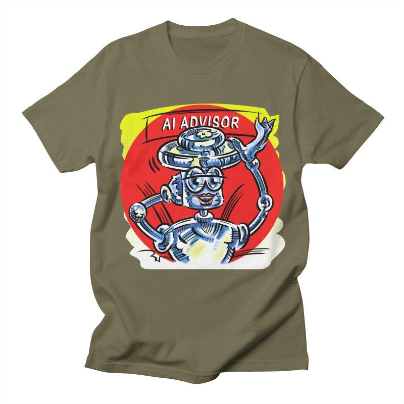 AI Advisor Men's Regular T-Shirt by thethinkforward's Artist Shop