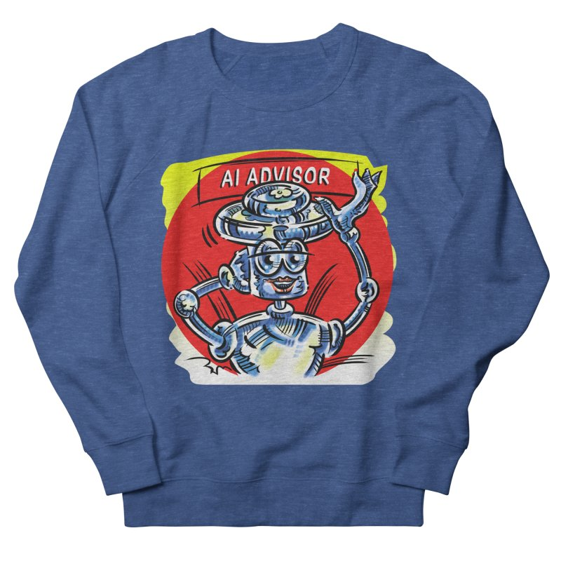 AI Advisor Men's French Terry Sweatshirt by thethinkforward's Artist Shop