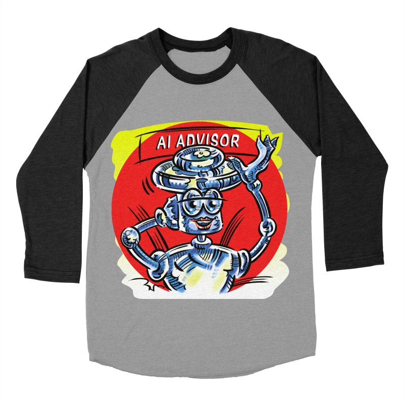 AI Advisor Women's Baseball Triblend Longsleeve T-Shirt by thethinkforward's Artist Shop