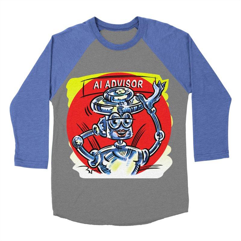 AI Advisor Men's Baseball Triblend Longsleeve T-Shirt by thethinkforward's Artist Shop