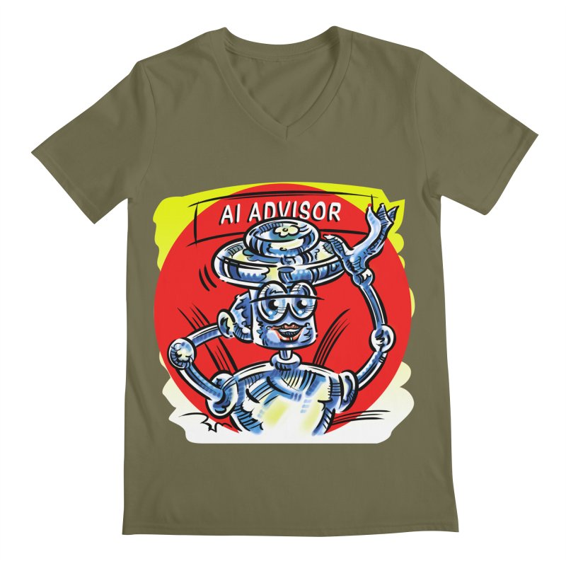 AI Advisor Men's Regular V-Neck by thethinkforward's Artist Shop