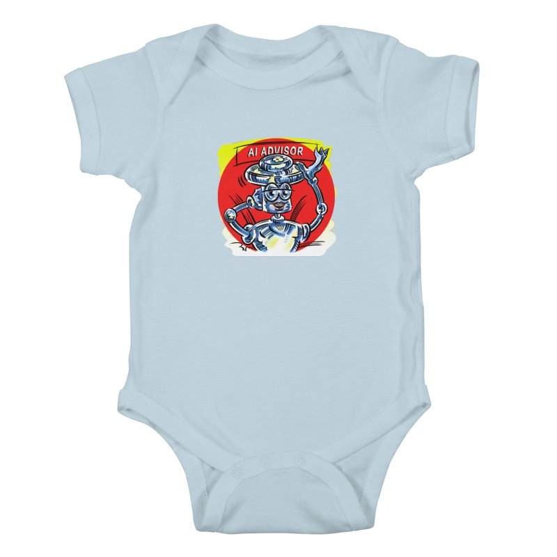AI Advisor Kids Baby Bodysuit by thethinkforward's Artist Shop