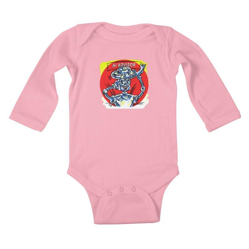 AI Advisor Kids Baby Longsleeve Bodysuit by thethinkforward's Artist Shop