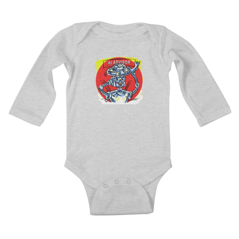 AI Advisor Kids Baby Longsleeve Bodysuit by thethinkforward's Artist Shop