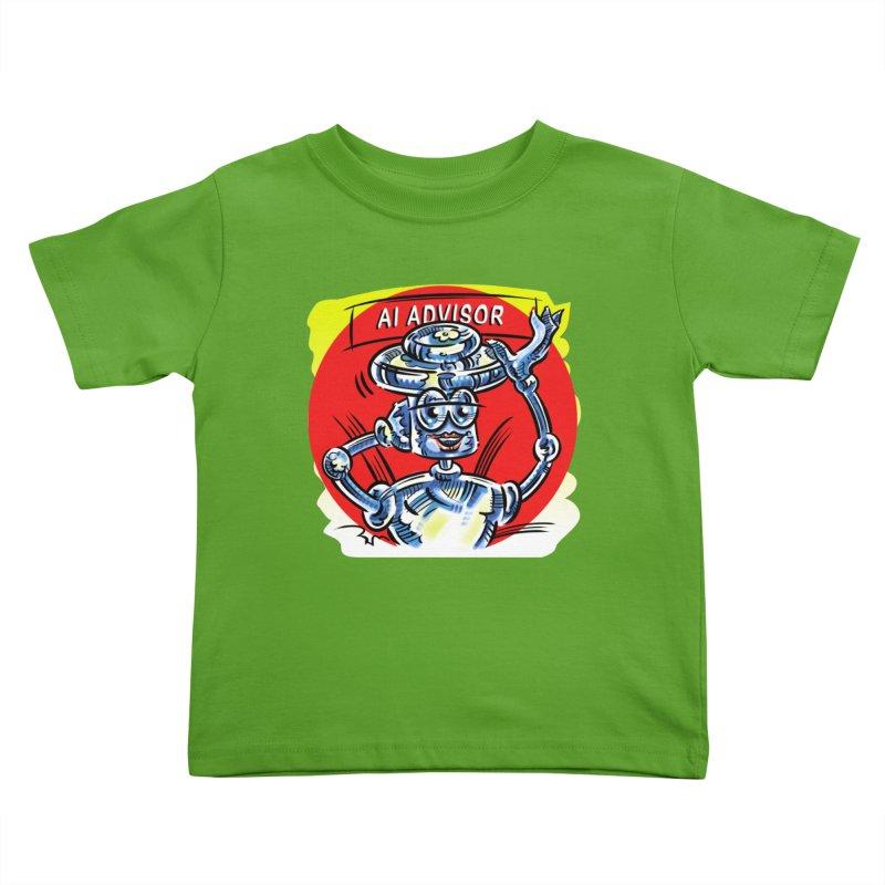 AI Advisor Kids Toddler T-Shirt by thethinkforward's Artist Shop