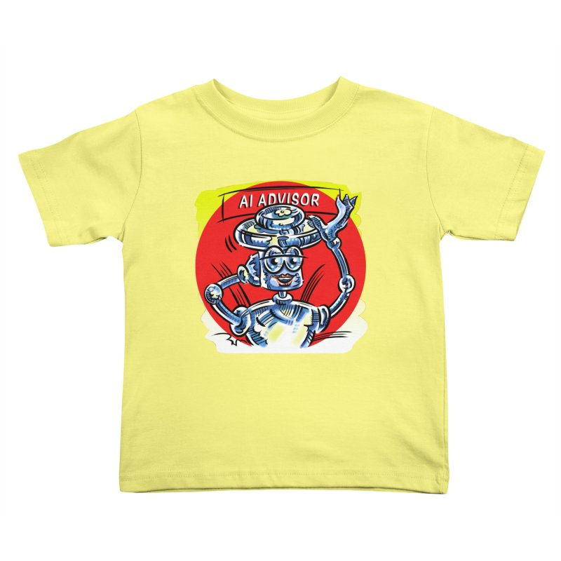 AI Advisor Kids Toddler T-Shirt by thethinkforward's Artist Shop