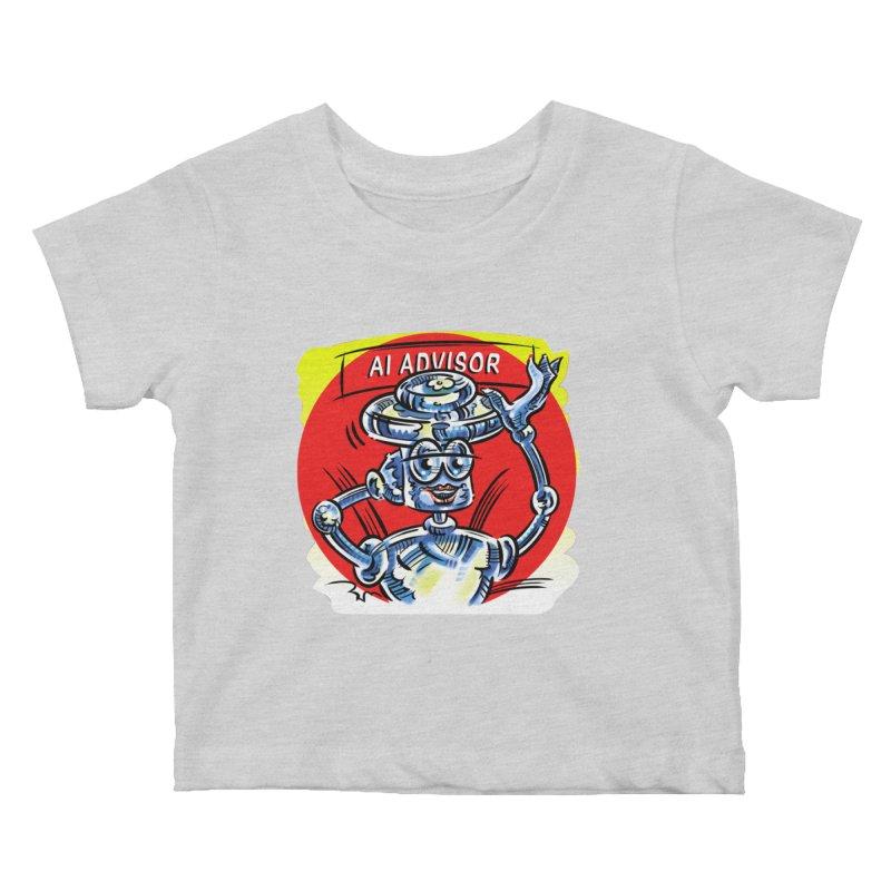 AI Advisor Kids Baby T-Shirt by thethinkforward's Artist Shop
