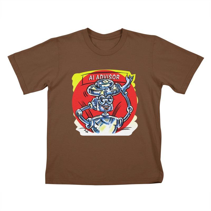 AI Advisor Kids T-Shirt by thethinkforward's Artist Shop