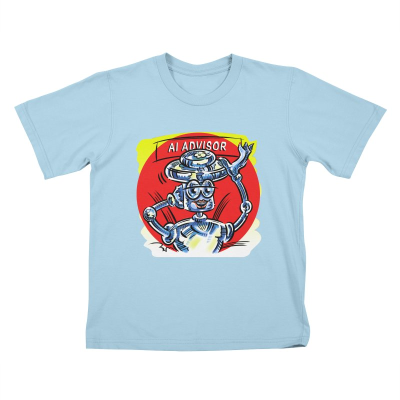 AI Advisor Kids T-Shirt by thethinkforward's Artist Shop