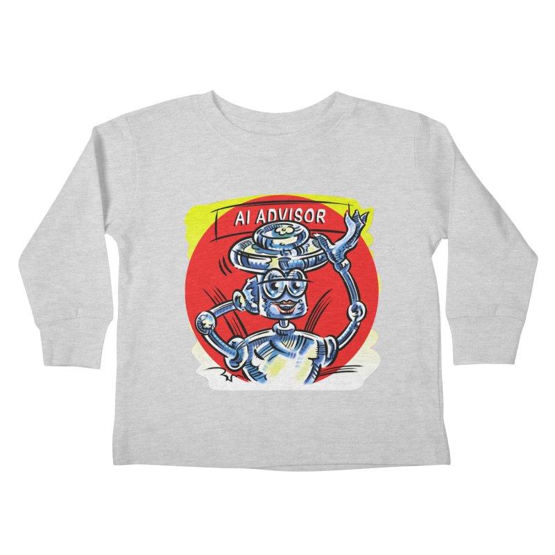 AI Advisor Kids Toddler Longsleeve T-Shirt by thethinkforward's Artist Shop