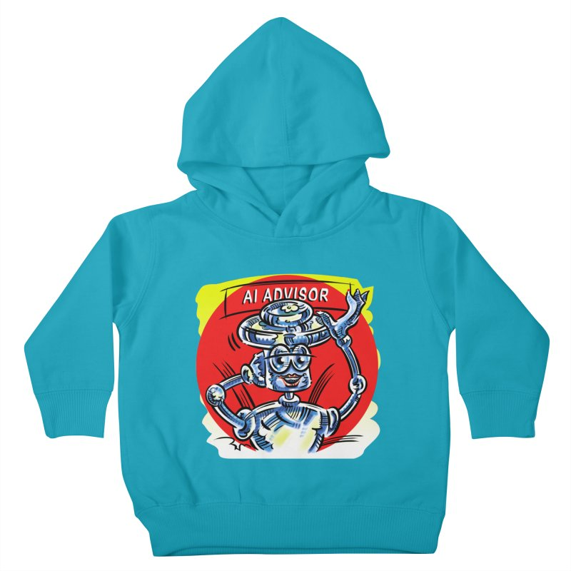 AI Advisor Kids Toddler Pullover Hoody by thethinkforward's Artist Shop
