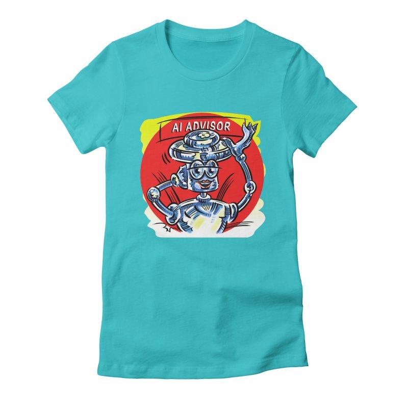 AI Advisor Women's Fitted T-Shirt by thethinkforward's Artist Shop