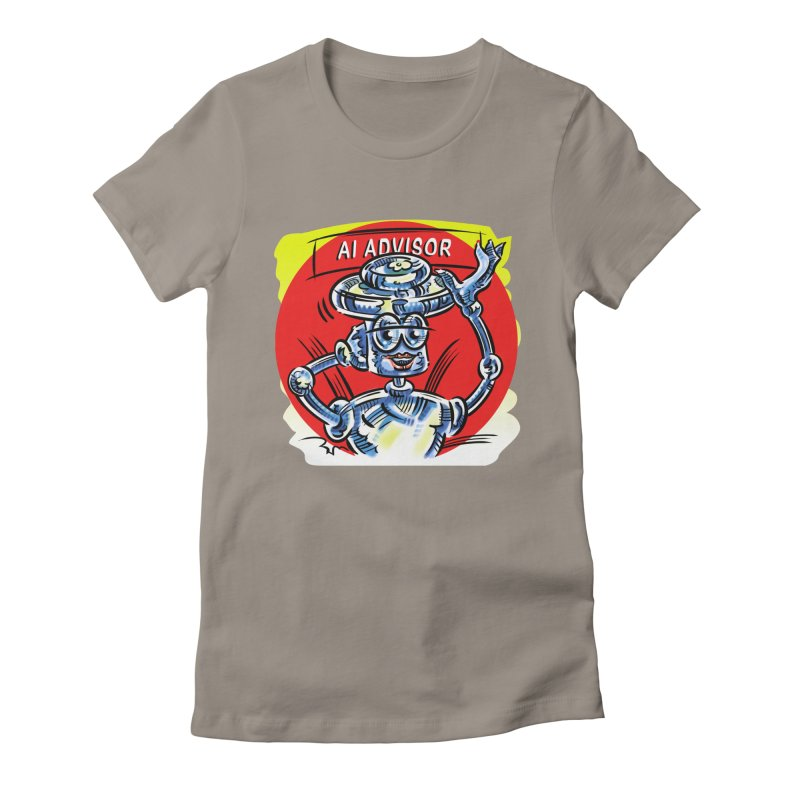 AI Advisor Women's Fitted T-Shirt by thethinkforward's Artist Shop