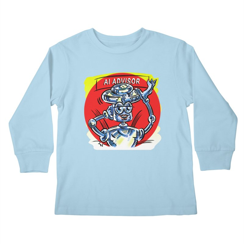AI Advisor Kids Longsleeve T-Shirt by thethinkforward's Artist Shop