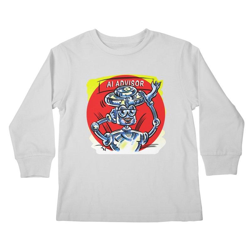 AI Advisor Kids Longsleeve T-Shirt by thethinkforward's Artist Shop