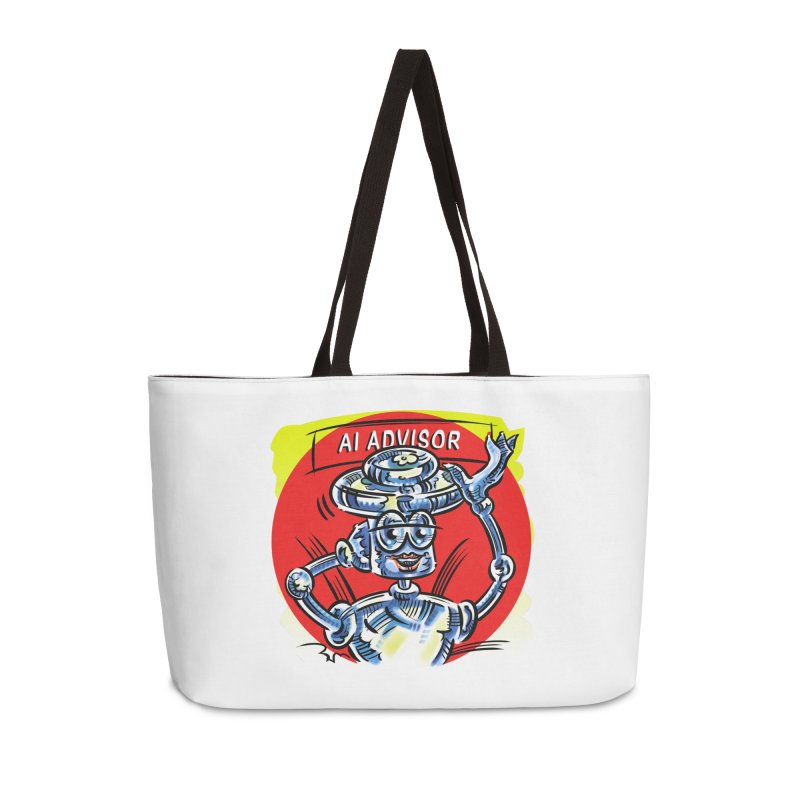 AI Advisor Accessories Weekender Bag Bag by thethinkforward's Artist Shop