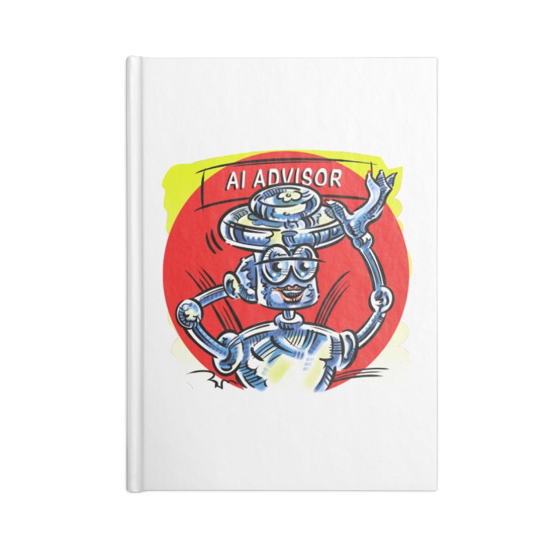 AI Advisor Accessories Lined Journal Notebook by thethinkforward's Artist Shop