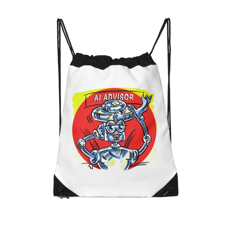 AI Advisor Accessories Drawstring Bag Bag by thethinkforward's Artist Shop