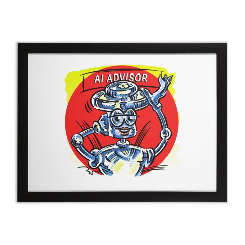 AI Advisor Home Framed Fine Art Print by thethinkforward's Artist Shop