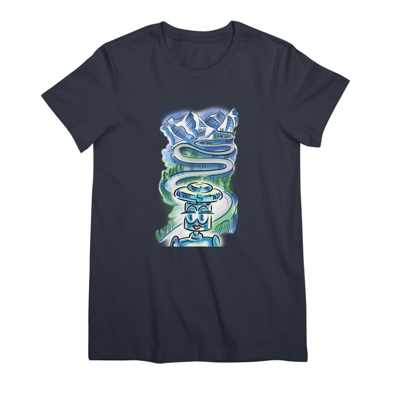 CHIP to the Mountain Women's Premium T-Shirt by thethinkforward's Artist Shop