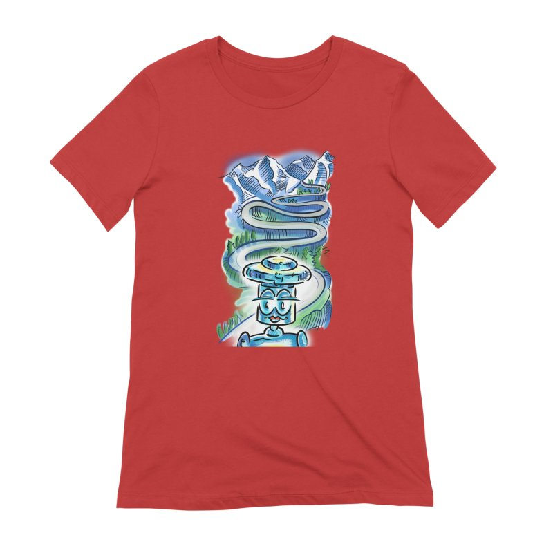 CHIP to the Mountain Women's Extra Soft T-Shirt by thethinkforward's Artist Shop