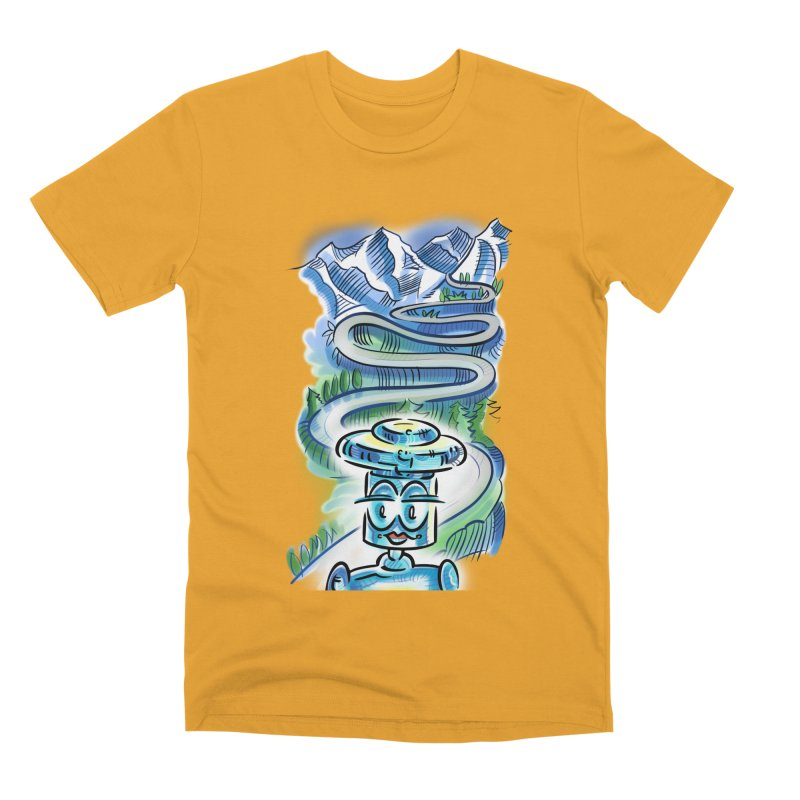 CHIP to the Mountain Men's Premium T-Shirt by thethinkforward's Artist Shop
