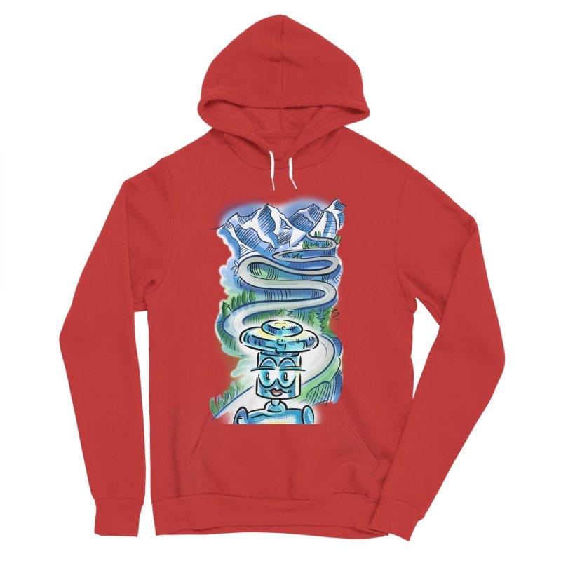 CHIP to the Mountain Women's Sponge Fleece Pullover Hoody by thethinkforward's Artist Shop