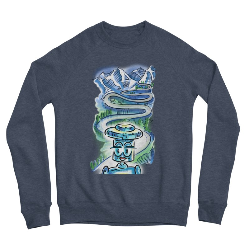CHIP to the Mountain Women's Sponge Fleece Sweatshirt by thethinkforward's Artist Shop