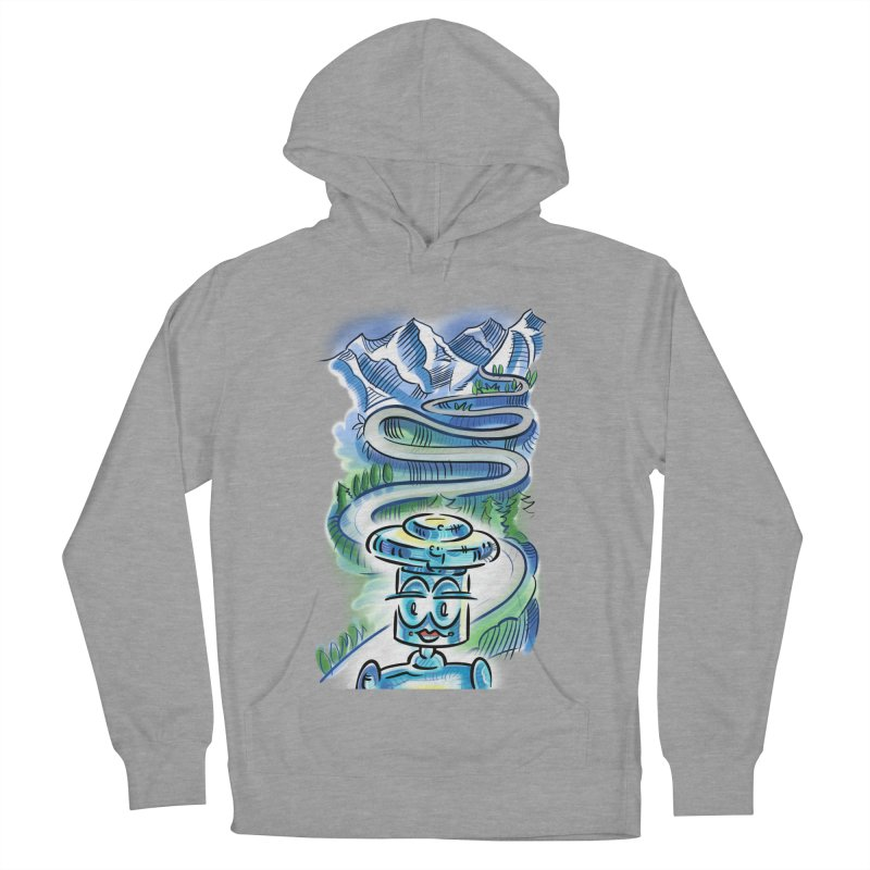 CHIP to the Mountain Women's French Terry Pullover Hoody by thethinkforward's Artist Shop