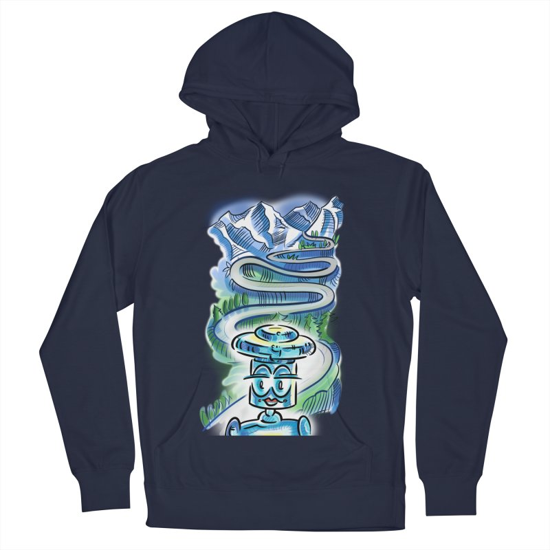 CHIP to the Mountain Men's French Terry Pullover Hoody by thethinkforward's Artist Shop