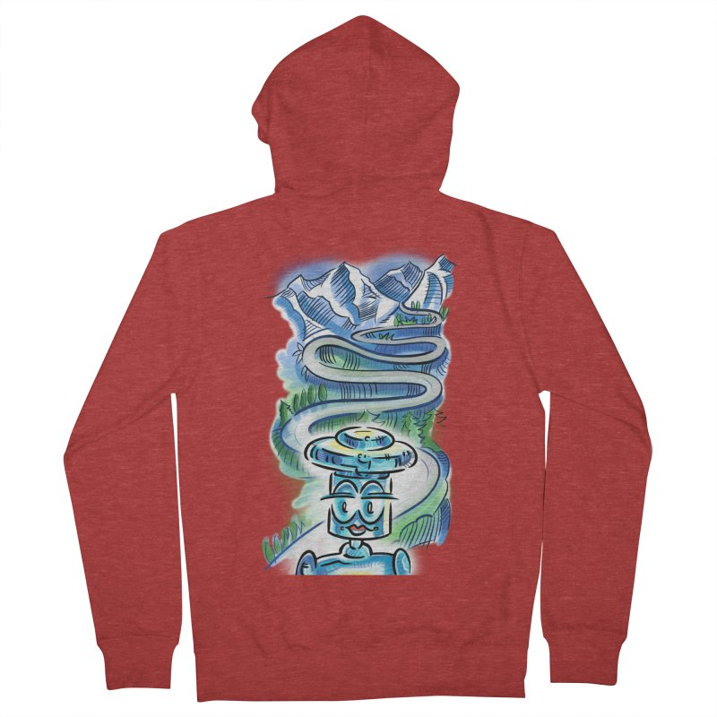 CHIP to the Mountain Women's French Terry Zip-Up Hoody by thethinkforward's Artist Shop