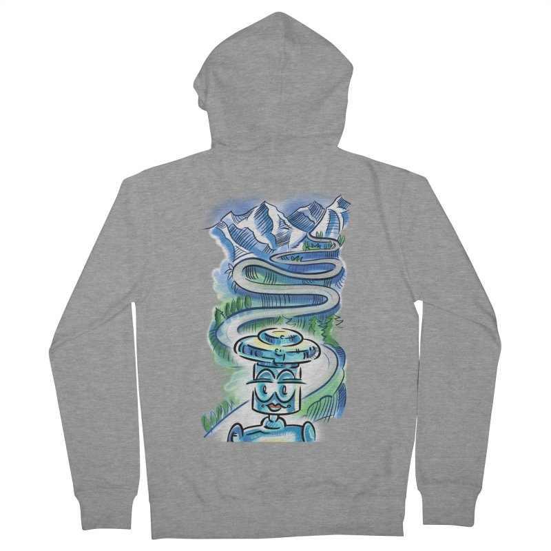 CHIP to the Mountain Men's French Terry Zip-Up Hoody by thethinkforward's Artist Shop