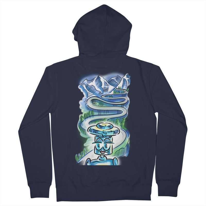 CHIP to the Mountain Men's Zip-Up Hoody by thethinkforward's Artist Shop