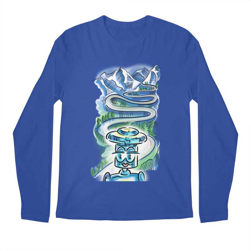 CHIP to the Mountain Men's Regular Longsleeve T-Shirt by thethinkforward's Artist Shop