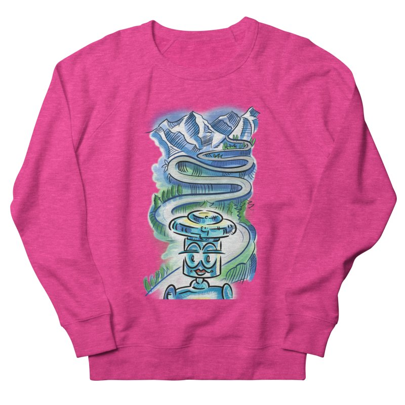 CHIP to the Mountain Women's French Terry Sweatshirt by thethinkforward's Artist Shop