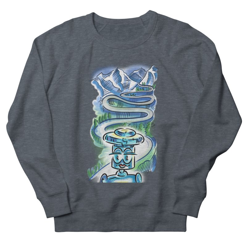 CHIP to the Mountain Men's French Terry Sweatshirt by thethinkforward's Artist Shop