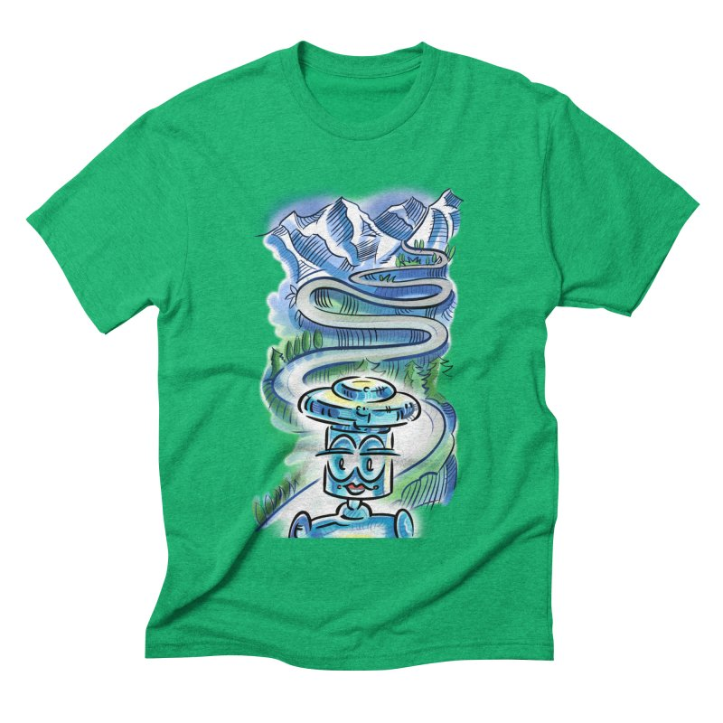 CHIP to the Mountain Men's Triblend T-Shirt by thethinkforward's Artist Shop