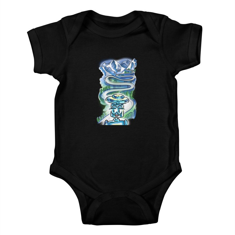CHIP to the Mountain Kids Baby Bodysuit by thethinkforward's Artist Shop